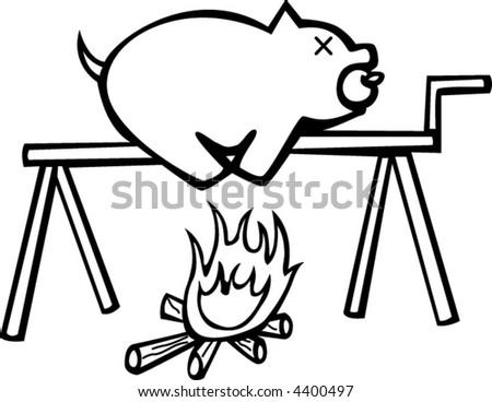 Pork Fire Stock Vector Royalty Free 4400497