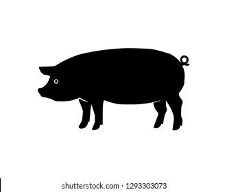 Pork vector icon - Vector