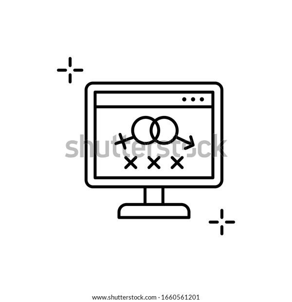 Hands Laptop Porn Addiction Illustration by BNP Design Studio #1638568