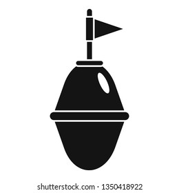 Port buoy icon. Simple illustration of port buoy vector icon for web design isolated on white background