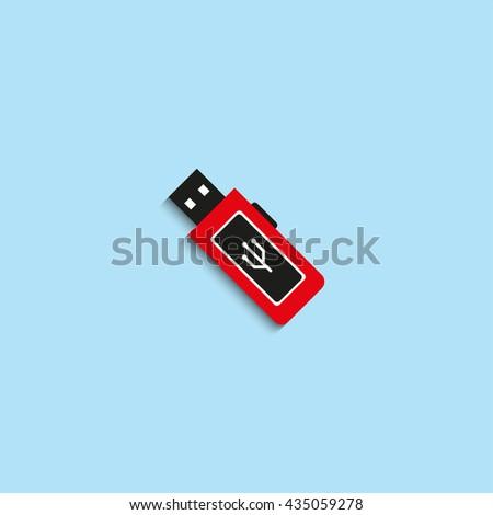 Portable Data Carrier Vector Icon Stock Vector (Royalty Free