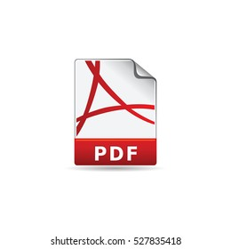 Portable document file format icon in color. Computer software web page