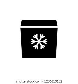 Portable fridge icon