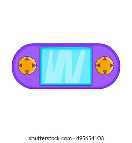 Portable game console icon. Cartoon illustration of console vector icon for web design