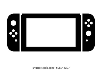 Portable / home video game console hybrid flat vector icon for gaming apps and websites
