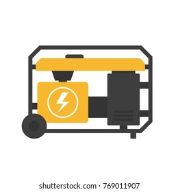 Portable power generator icon. Clipart image isolated on white background