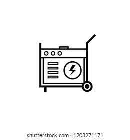 Portable power generator outline icon. Clipart image isolated on white background