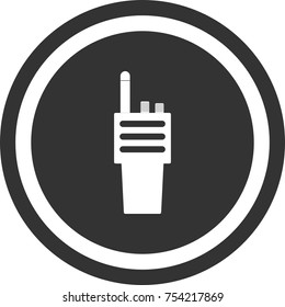 Portable radio icon , dark circle sign design