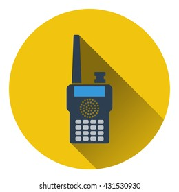 Portable radio icon. Flat design. Vector illustration.