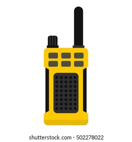 Portable radio transmitter icon. Flat illustration of radio vector icon for web design