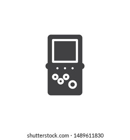 Portable retro game console vector icon. filled flat sign for mobile concept and web design. Video game console glyph icon. Symbol, logo illustration. Vector graphics