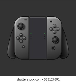 Portable video game console. Vector Illustration.