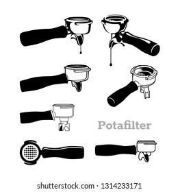 portafilter vector images stock photos vectors shutterstock https www shutterstock com image vector portafilter coffee tools vector 1314233171