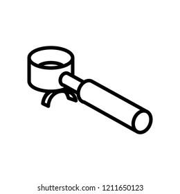 portafilter icon vector illustration stock vector royalty free 1211650123 shutterstock