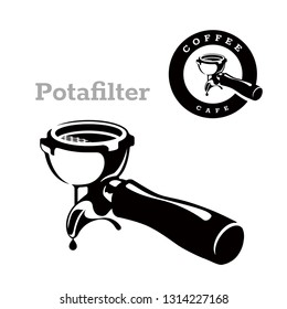 portafilter vector images stock photos vectors shutterstock https www shutterstock com image vector portafilter logo coffee vector 1314227168
