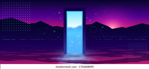Portal to another reality. Futuristic abstract background