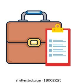 portfolio briefcase with checklist