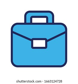 portfolio briefcase line and fill style icon vector illustration design