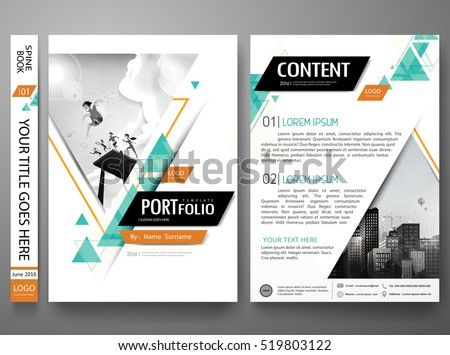 portfolio design template vector minimal brochure stock vector