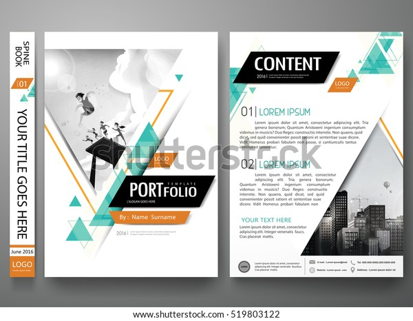 Portfolio Design Template Vector Minimal Brochure Stock
