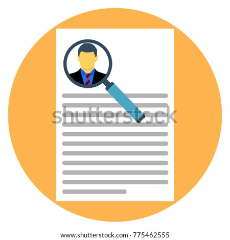 portfolio document letter paper resume article stock vector royalty