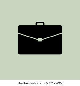 Portfolio icon, briefcase vector illustration