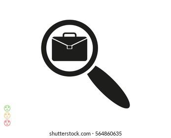 portfolio magnifier icon vector illustration eps10