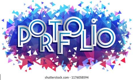 Portfolio word creative concept