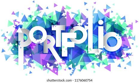 Portfolio word vector, creative concept.