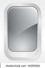 Porthole of a plane or ship, external view - vector illustration Eps10