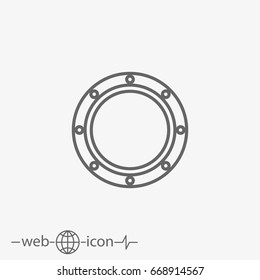 porthole vector icon