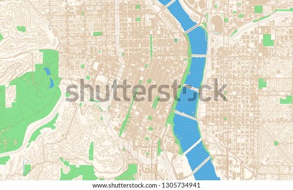 street map of downtown portland oregon Portland Oregon Printable Map Excerpt This Stock Vector Royalty street map of downtown portland oregon