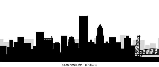 Portland Skyline - Vector