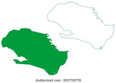 Porto de Pedras municipality (Alagoas state, Municipalities of Brazil, Federative Republic of Brazil) map vector illustration, scribble sketch Porto de Pedras map