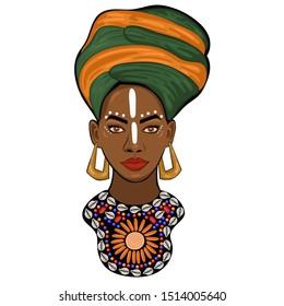 Portrait of an African princess.