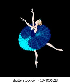 The Portrait of a Ballerina. A Ballet Dancer Girl. Freehand Drawing. Vector Ilustration. Classical Dance. Ballet Costume Design. Sketch of a Tutu Dress. A Beautiful Young Blonde Woman. Cartoon Style