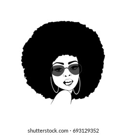 d58a455d80 Portrait of a beautiful African America woman with attitude in vector format