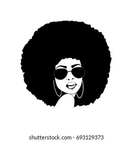Portrait of a beautiful African America woman with attitude in vector format