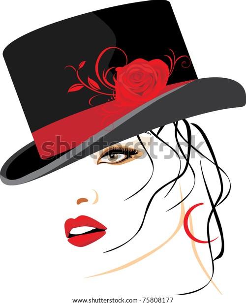portrait-beautiful-woman-elegant-hat-600