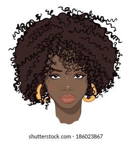 portrait of beauty african women