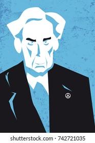 portrait of Bertrand Russell