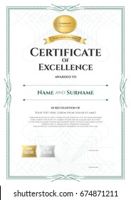 certificate template golden element stock vector royalty free