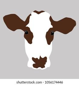 A portrait of a cow