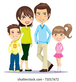 cartoon family images stock photos vectors shutterstock