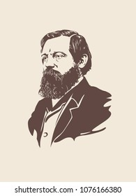 Portrait of Friedrich Engels