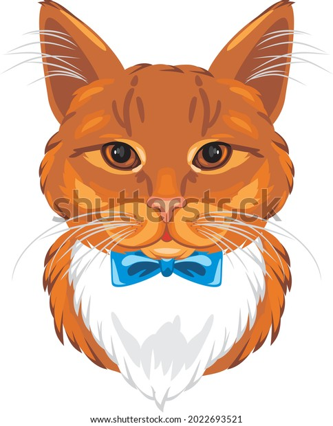 portrait-funny-ginger-cat-bow-600w-20226