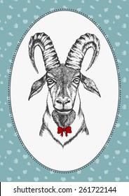 portrait of goat boy