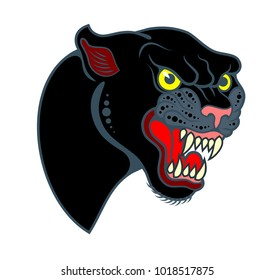 Portrait of a grinning Panther