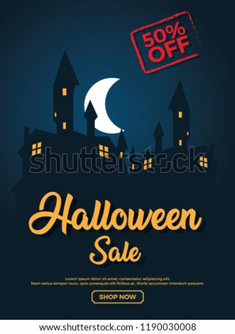 portrait halloween web banner template stock vector royalty free