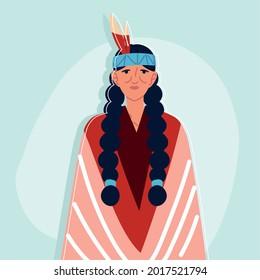 portrait indigenous elderly woman character